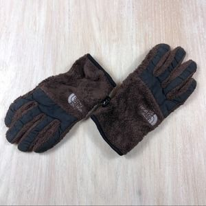 ❌FINAL PRICE❌ North Face Brown Furry Women's Glove